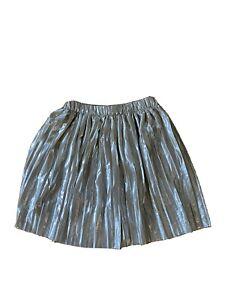 Zara Kids Girls Gold Pleated Skirt, Sz 13-14 Years