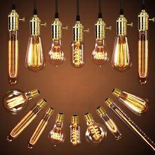 8X E27 40W Edison Vintage Lampe Retro Glühlampe Filament Nostalgie Glühbirne