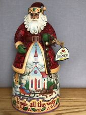 Jim Shore Bells On Bobtail Ring 2007 Santa Claus Figure 4007925