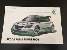CP POSTCARD CARTOLINA SKODA FABIA S2000 ESAPEKKA LAPPI RALLYE WRC RALLY