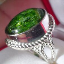 NATURAL CHROME  DIOPSIDE 925 SILVER RING 42.0 ct,Fine Estate Jewelry. SIZE 6.25