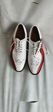 Footjoy icon tour issue golf shoes, signed by and worn by ian Poulter