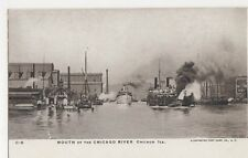 USA, Mouth Of The Chicago River, Chicago Ill. Early UB Postcard, B375