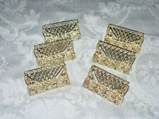 Vintage Place Card Holders-Goldtone/Pearl-Se t of 6-Very Detailed, Cute Design