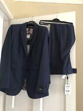 Ladies next trouser Suit navy blue size 14 r