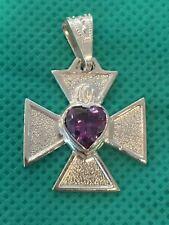 Cruz de Malta con Amatista 970 Silver/Plata Maltese Cross Heart Amethyst,