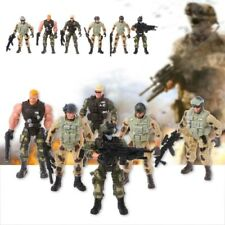 6Pcs Action Figure Army Soldiers Toy with Military Weapon Figures Child Toy