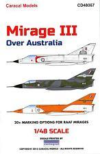 Caracal Decals 1/48 DASSAULT MIRAGE III OVER AUSTRALIA Part 1