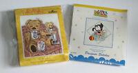 DMC Cross Stitch Kit Teddy Tum Tum & Disney Babies Baby Goofy - Incomplete.