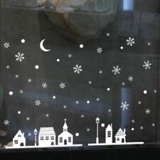 DIY White Snow Christmas Wall Stickers Window Glass Festival Shopwindow Decals