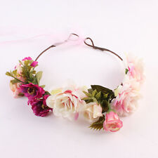 Mom And Kids Wedding Flower Hair Garland Crown Headband Floral Wreath Hairband/