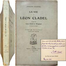 La vie de Léon Cladel 1905 EO Judith portrait Bracquemond suivi Belgique Picard