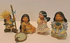 Enesco Friends Of The Feather Lot of 4 Boys Girls by Karen Hahn