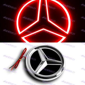 5D LED Car Tail Logo Red Light Badge Emblem Light For Mercedes-Benz C S GLK AMG