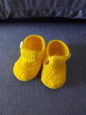Patucos ,zapatos bebe recien nacido crochet lana,  suela 8,5 cm