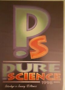 pure science January 1998 @ atomics maidstone rave flyer