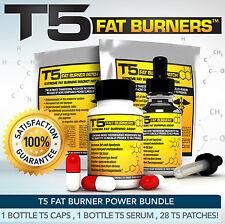 T5 bruciatori di grasso POWER Bundle-giuridica più forte Slimming / dieta pillole + SIERO + PATCH