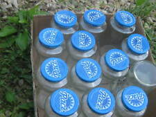 12 pcs Empty Glass Jars Used Salsa Sauce Jars with Pace Blue Lid good for craft