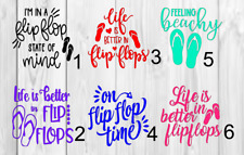 Flip flop Decal Single Color 3inchx3inch A