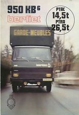 Berliet 950KB 6 Truck 1979 Original FRENCH Sales Brochure Pub. 1079