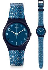 Swatch Trico 'Blue Watch GN259 Analogue Silicone Blue, White