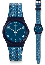 Swatch Trico 'blue Watch Gn259 Analogue Silicone Blue White