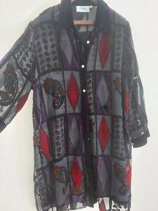 Ladies silk velvet top Size 20 blouse festive Clothes Contact