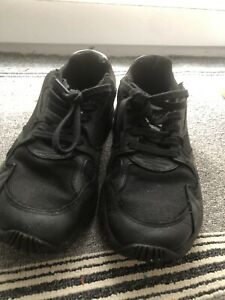 Trashed Womens Sneakers Trainers Adidas Black Falcon UK 7 Used