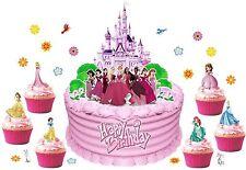 DISNEY PRINCESS 3D CASTLE SCENE 42 pcs  WAFER stand up edible cake decoration
