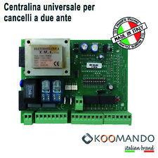 Centralina universale cancello automatico centrale comando automazione 1-2 ante