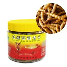 New listing 75g Dried Mealworms Bread for Reptile Turtle Hamster Fish Food Pet Animal Super