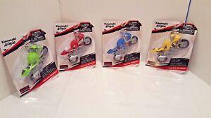 1:12 Scale Kawasaki Ninja Moto Speed Plastic Toy Motorcycle Party Favors 4pcs