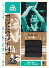 2002-03 Sp Game Used All-Star Apparel Gold #Pgas Pau Gasol Jersey #/100