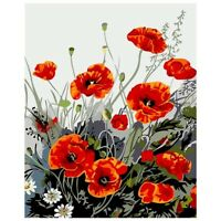 Flower Digital Painting Diy Painting By Numbers Kits Paint on Canvas Hand P L8O9