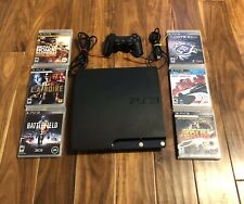 Sony PS3 Slim Gaming Console 80GB 6 Games, Controller, and 2 Cords