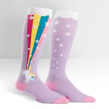"""STRETCH-IT SIZE"" Unicorn pooping a Rainbow on Unisex Wide Calf Knee High"
