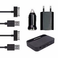 doupi 5in1 Ladeset iPhone 4 4S Dock Netzteil USB Kabel Auto Adapter Schwarz