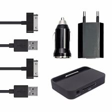 5in1 Ladeset Auto Adapter Netzteil Kabel Dockingstation iPhone 4 4S iPod Schwarz