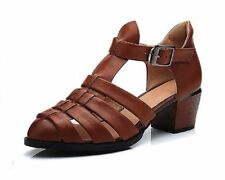 Leather Casual Med (1 in. to 2 3/4 in.) Women's Heels