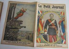 Le petit journal 1913 1173 Alphonse XIII roi d'espagne suicide cathédrale anvers