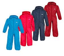 TRESPASS BOYS GIRLS BUTTON RAIN SUIT WATERPROOF ALL IN ONE KIDS RAINSUIT KIDS