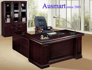 1.8m Veneer Office Executive Desk with return and pedestal