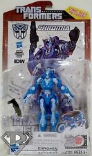 "CHROMIA Transformers Generations 30th Deluxe Class 5"" Figure IDW Comic Pack 2014"