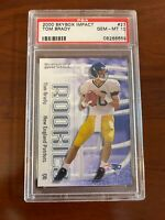 PSA 10 - 2000 Skybox Impact Tom Brady 27 The Greatest Of All Time. Rookie Card