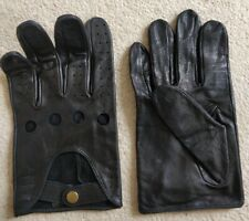 Wolsey Black Leather Driving Gloves Mens  Large L XL