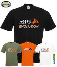 T Shirt, MOTOCROSS EVOLUTION, für zB KTM, Adventure, Enduro, Cross, Orange Fans
