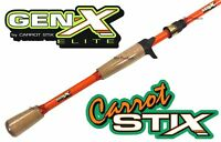 Carrot Stix CASTING 7' MEDIUM GEN X ELITE Bass Fishing Rod CGXE701M-F-C