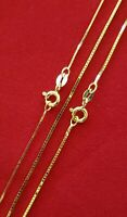 Guaranteed Solid 10K or 14K Gold Box Chain Necklace Three Sizes - All Lengths