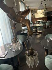 Two French Bronze Coloured Antique Cherub Chandelier Hanging Pendant Light