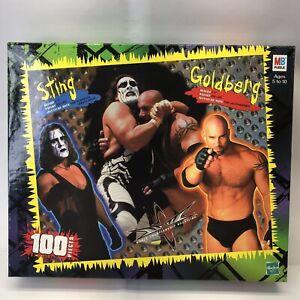 Vintage WCW Wrestling Sting Goldberg 100 Piece Puzzle Hasbro Milton Bradley
